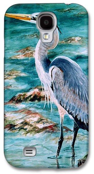 On The Rocks Great Blue Heron Galaxy S4 Case