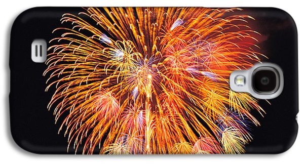 One Big Circle Of Fireworks With Black Galaxy S4 Case by Panoramic Images