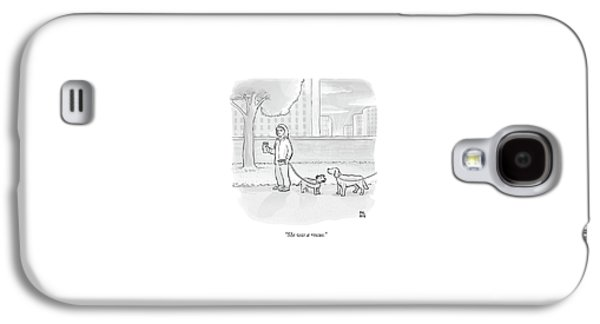 One Dog Talks To Another Galaxy S4 Case by Paul Noth