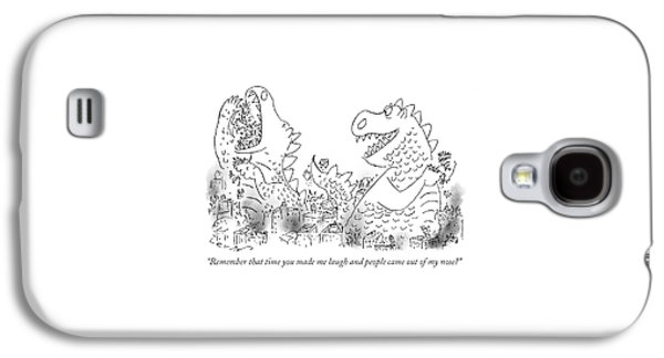 One Monster Devouring A City Galaxy S4 Case by Arnie Levin