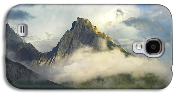 Opal Range In Fog Kananaskis Country Galaxy S4 Case by Tim Fitzharris