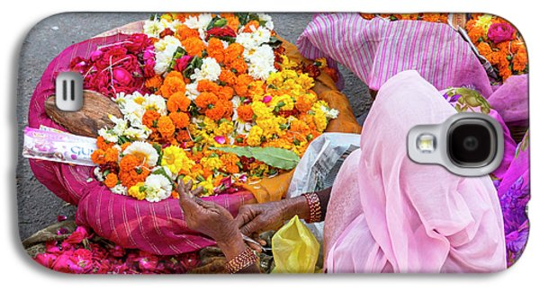 Open Air Market Udaipur Rajasthan India Galaxy S4 Case by Tom Norring