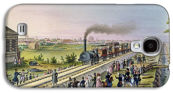 Opening Of The First Railway Line From Tsarskoe Selo To Pavlovsk In 1837 Galaxy S4 Case