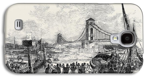 Opening Of The Hungerford Suspension Bridge Galaxy S4 Case by English School