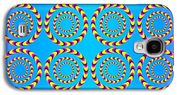 Optical Illusion Spinning Wheels Galaxy S4 Case