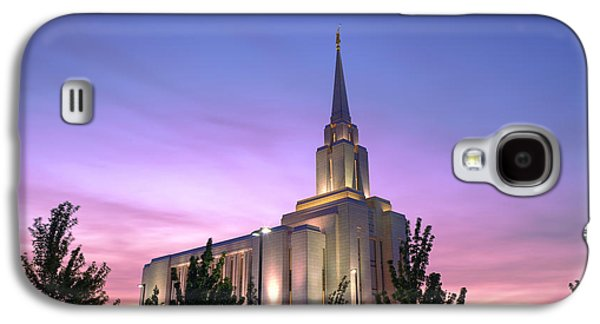 Oquirrh Mountain Temple Iv Galaxy S4 Case by Chad Dutson