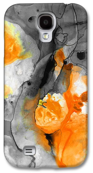 Orange Abstract Art - Iced Tangerine - By Sharon Cummings Galaxy S4 Case by Sharon Cummings