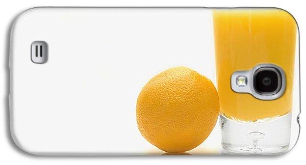 Orange And Orange Juice Galaxy S4 Case