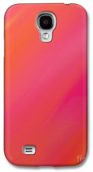 Orange And Raspberry Sorbet Abstract 1 Galaxy S4 Case by Andee Design
