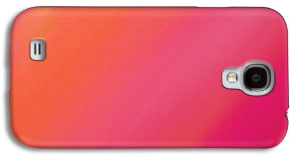 Orange And Raspberry Sorbet Abstract 2 Galaxy S4 Case by Andee Design