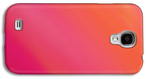Orange And Raspberry Sorbet Abstract 3 Galaxy S4 Case by Andee Design