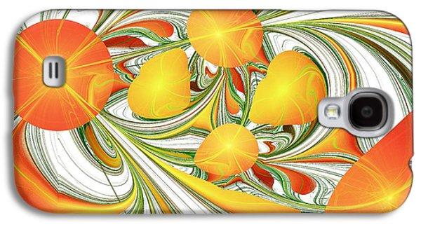 Orange Attitude Galaxy S4 Case by Anastasiya Malakhova