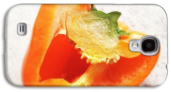 Orange Galaxy S4 Case - Orange Bell Pepper - Square Format by Matthias Hauser