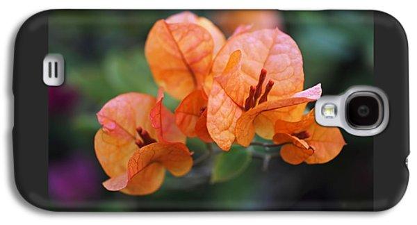 Orange Bougainvillea Galaxy S4 Case by Rona Black