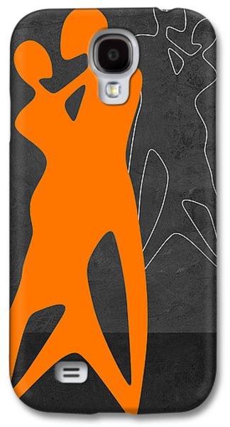 Orange Couple Dancing Galaxy S4 Case
