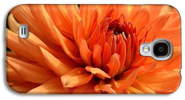 Orange Dahlia Galaxy S4 Case