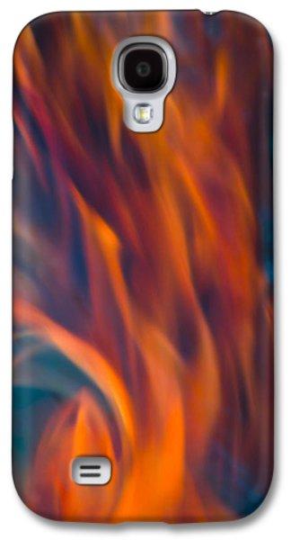 Orange Fire Galaxy S4 Case