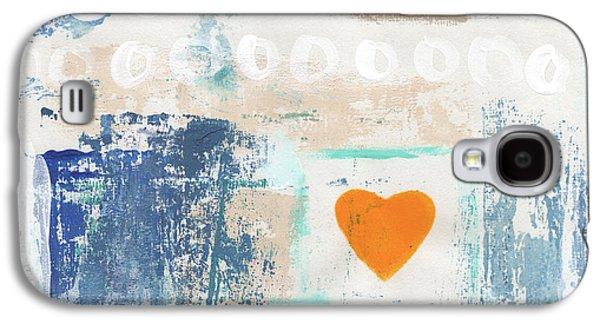 Orange Heart- Abstract Painting Galaxy S4 Case