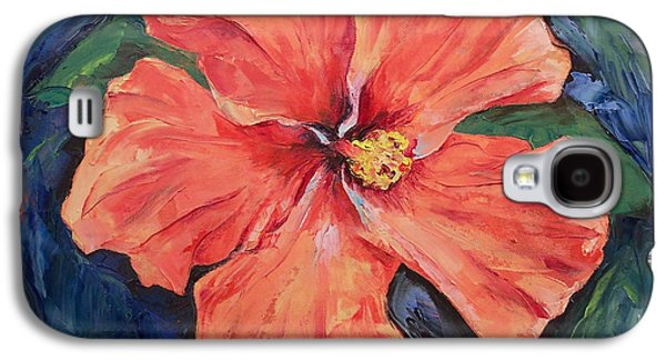 Orange Hibiscus Galaxy S4 Case by Michael Creese
