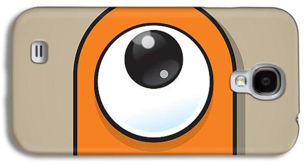 Orange Galaxy S4 Case by Samuel Whitton