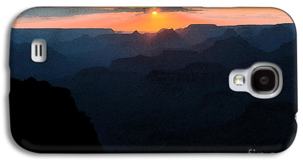 Orange Sunset Twilight Over Silhouetted Spires In Grand Canyon National Park Fresco Galaxy S4 Case by Shawn O'Brien