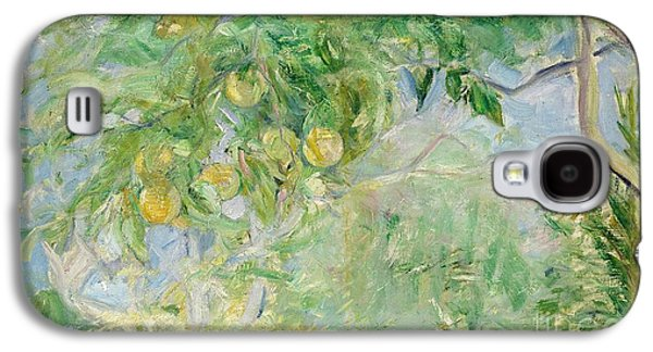 Orange Tree Branches Galaxy S4 Case by Berthe Morisot