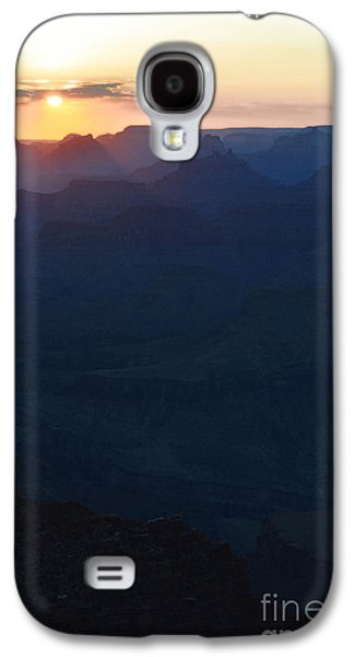 Orange Twilight Sunset Over Silhouetted Spires In Grand Canyon National Park Diffuse Glow Vertical Galaxy S4 Case by Shawn O'Brien