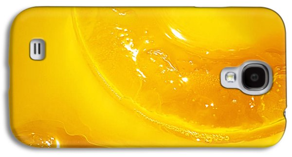 Orange With Ice And A Slice Galaxy S4 Case