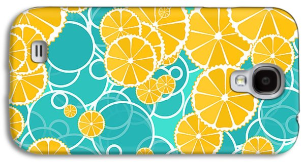 Oranges And Bubbles Galaxy S4 Case