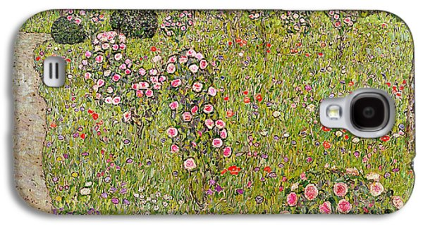 Orchard With Roses Obstgarten Mit Rosen Galaxy S4 Case by Gustav Klimt