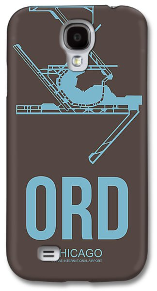 Ord Chicago Airport Poster 2 Galaxy S4 Case by Naxart Studio