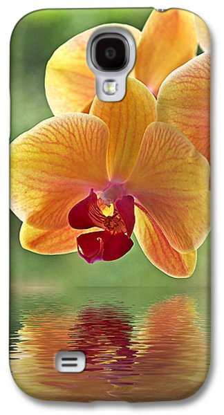 Orchid Galaxy S4 Case - Oriental Spa - Square by Gill Billington