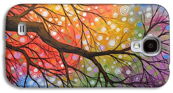 Original Abstract Painting Landscape Print ... Bursting Sky Galaxy S4 Case