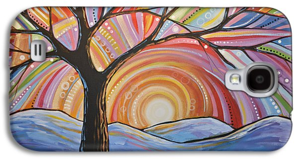 Original Abstract Tree Landscape Painting ... Mountain Majesty Galaxy S4 Case