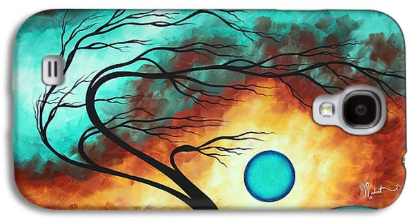 Original Bold Colorful Abstract Landscape Painting Family Joy I By Madart Galaxy S4 Case