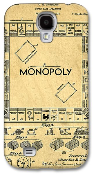 Original Patent For Monopoly Board Game Galaxy S4 Case