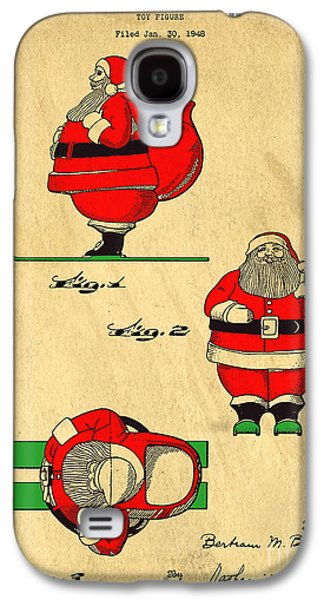Original Patent For Santa On Skis Figure Galaxy S4 Case