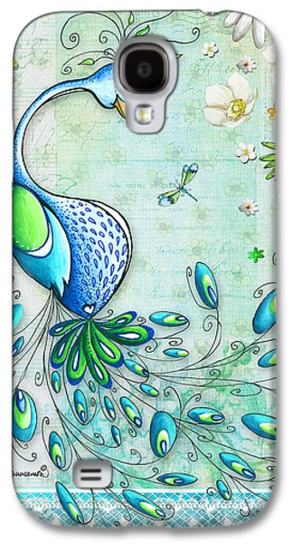 Peacock Galaxy S4 Case - Original Peacock Painting Bird Art By Megan Duncanson by Megan Duncanson