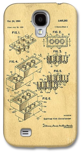 Original Us Patent For Lego Galaxy S4 Case by Edward Fielding