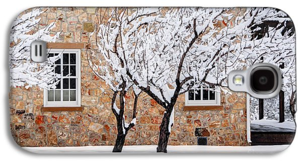 Ornate Historic Stone House In Winter Galaxy S4 Case by Gary Whitton