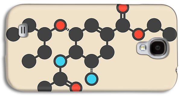 Oseltamivir Influenza Virus Drug Molecule Galaxy S4 Case by Molekuul