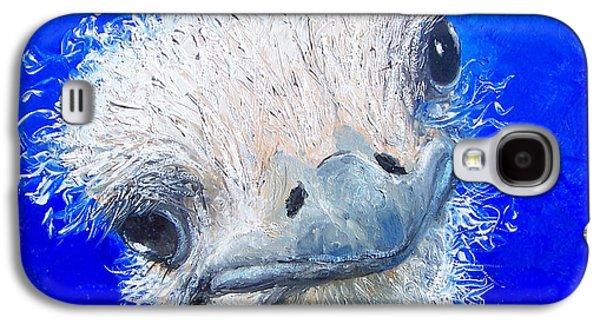 Ostrich Painting 'waldo' By Jan Matson Galaxy S4 Case by Jan Matson