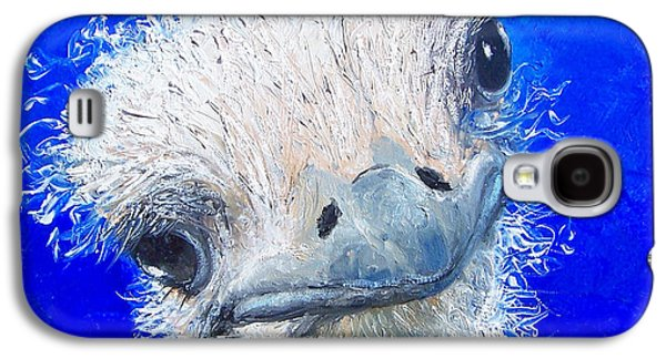 Ostrich Painting 'waldo' By Jan Matson Galaxy S4 Case by Jan Matson