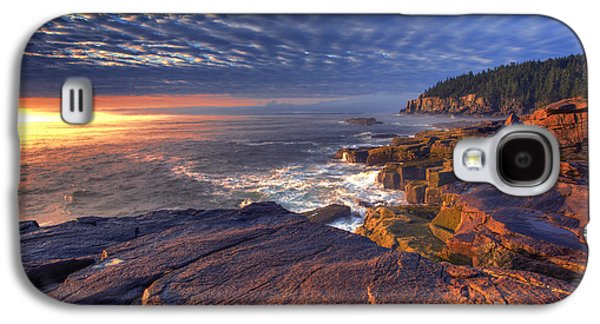 Otter Galaxy S4 Case - Otter Cove Sunrise by Marco Crupi