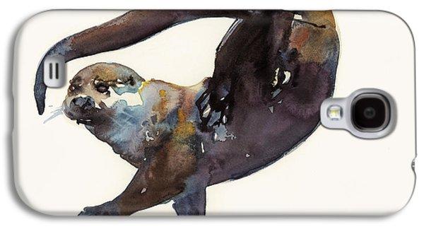 Otter Study II  Galaxy S4 Case by Mark Adlington