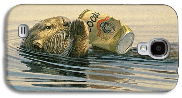 Otter Galaxy S4 Case - Otter's Toy by Paul Krapf