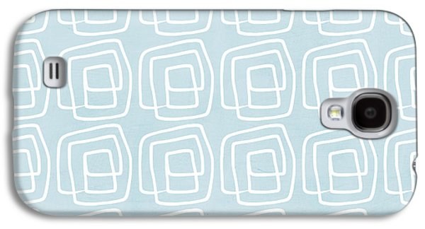 Out Of The Box Blue And White Pattern Galaxy S4 Case by Linda Woods
