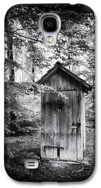 Outhouse In The Forest Black And White Galaxy S4 Case