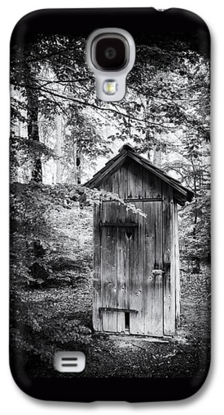 Outhouse In The Forest Black And White Galaxy S4 Case by Matthias Hauser