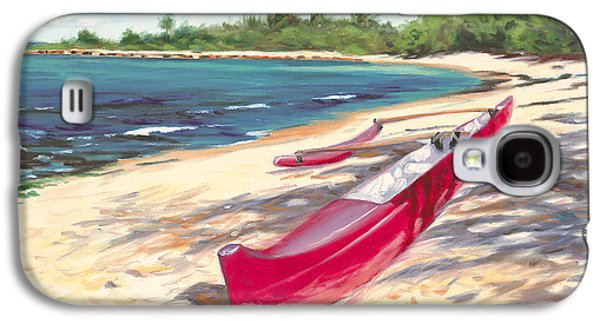 Outrigger - Haleiwa Galaxy S4 Case by Steve Simon